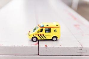 small, toy ambulance