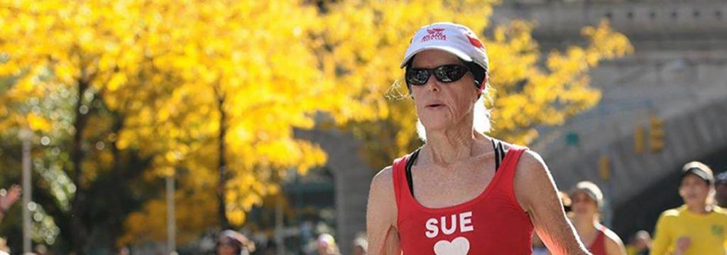 Sue Landa with the Atlanta Track Club