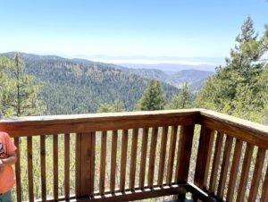 Scenic overlook platform at national recreation area