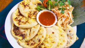A Plate of Pupusas